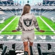 Women's Raiders apparel silver black outfit