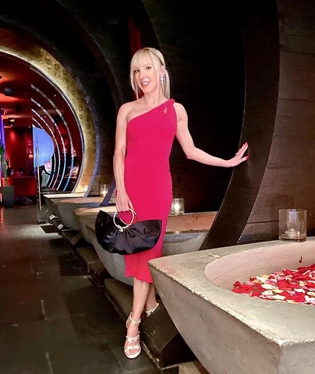 Rent the Runway Cult Gaia pink dress Tao Vegas