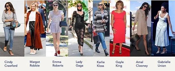celebrities wearing Sarah flint heels flats shoes