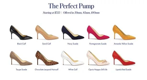 Sarah Flint heels Perfect Pump colors