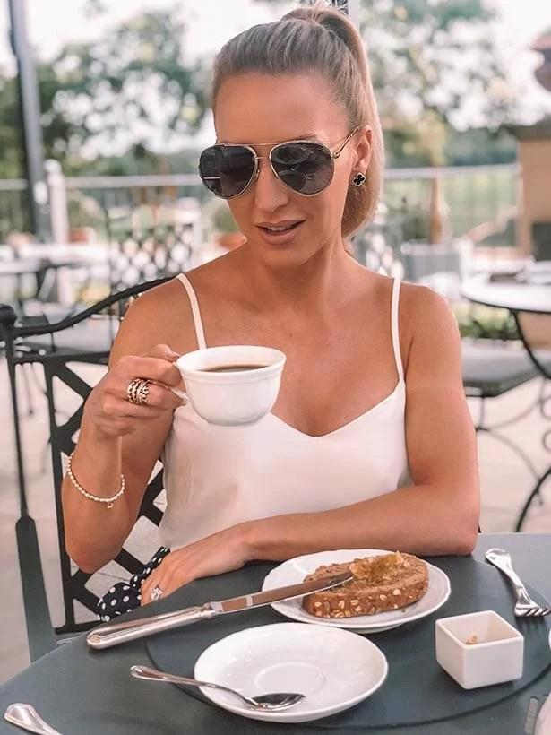 Morning coffee Como Castello Del Nero review travel blogger
