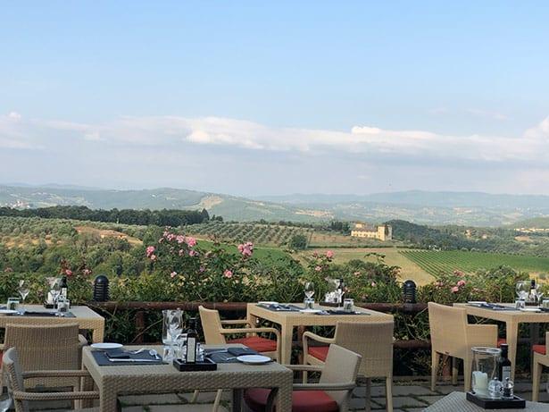 La Taverna restaurant Como Castello Del Nero Tuscany Italy