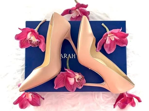 Sarah Flint Perfect Pump 100 heels blue box
