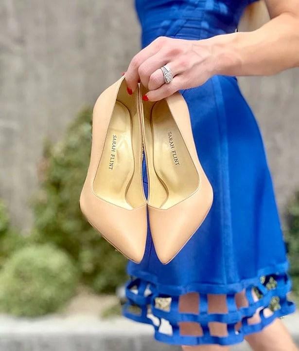 Sarah Flint perfect pump 100 nude leather comfort heels