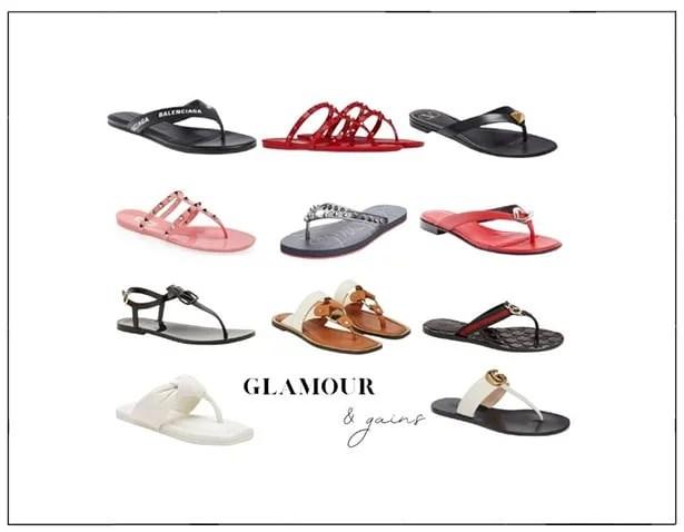 best designer flip flops womens fashion