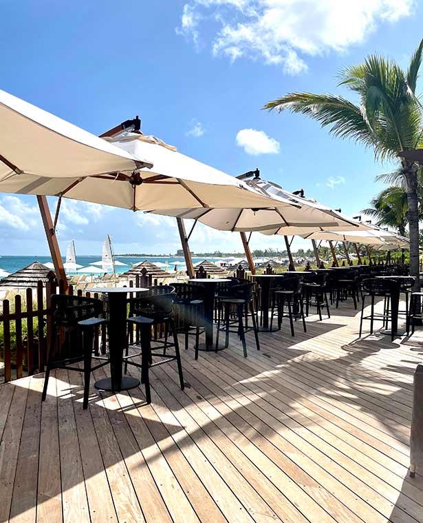deck restaurant ocean front dining turks caicos