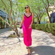 Fall trends 2021 womens fashion pink dress