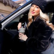 faux fur coat winter 2021 fashion blogger Glamour Gains Etsy gift custom starbucks cup
