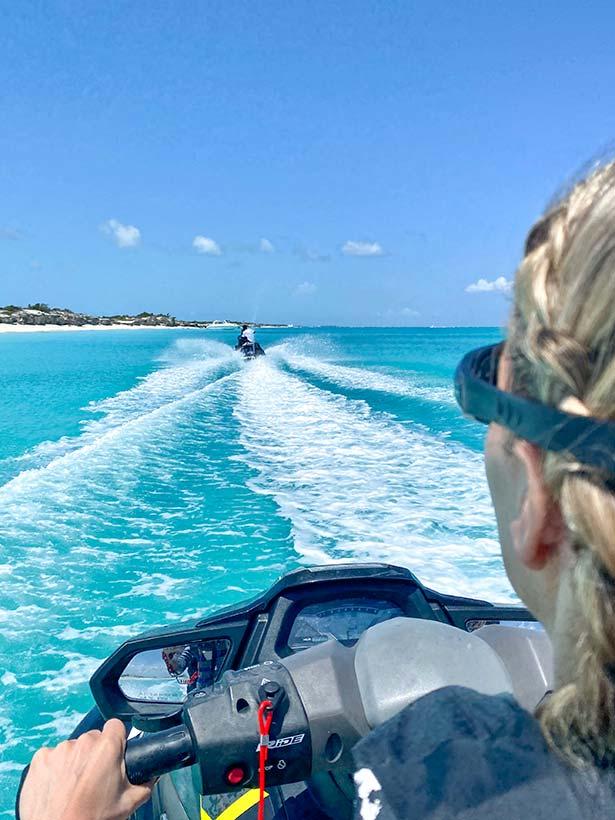 things do turks caicos travel blogger riding jet ski