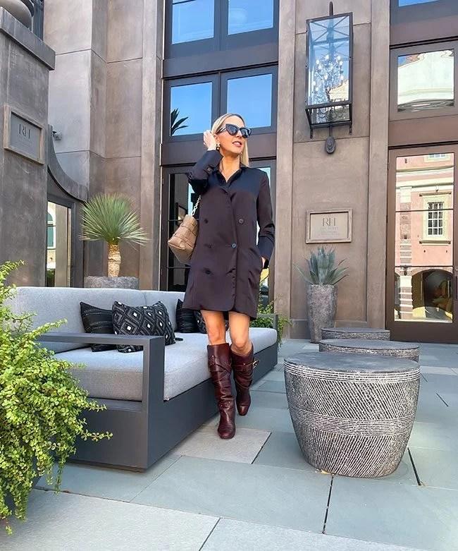 knee high boots blogger glamour gains wearing designer chloe