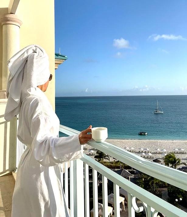 seven stars resort balcony views oceanfront suite eve dawes coffee
