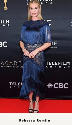 heels wear black dress perfect strappy black sandals Rebecca Romijn