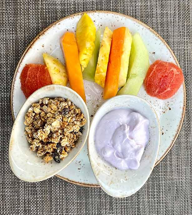 Seven stars resort turks caicos hotel healthy breakfast
