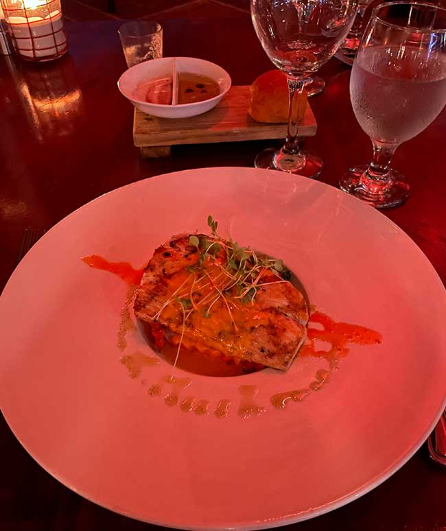 Turks and Caicos all inclusive resorts dinner fish
