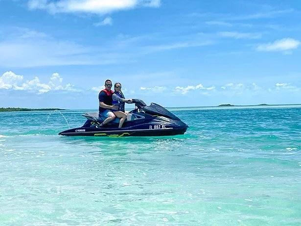 private jetski tour turks caicos romantic couple water