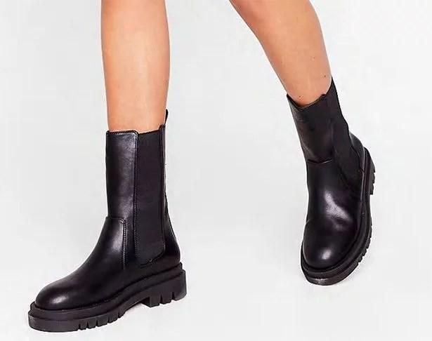 womens chelsea boots black flat
