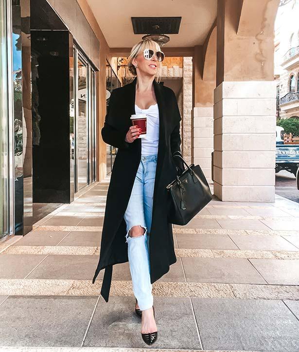 black long coats for women winter fashion Glamour Gains