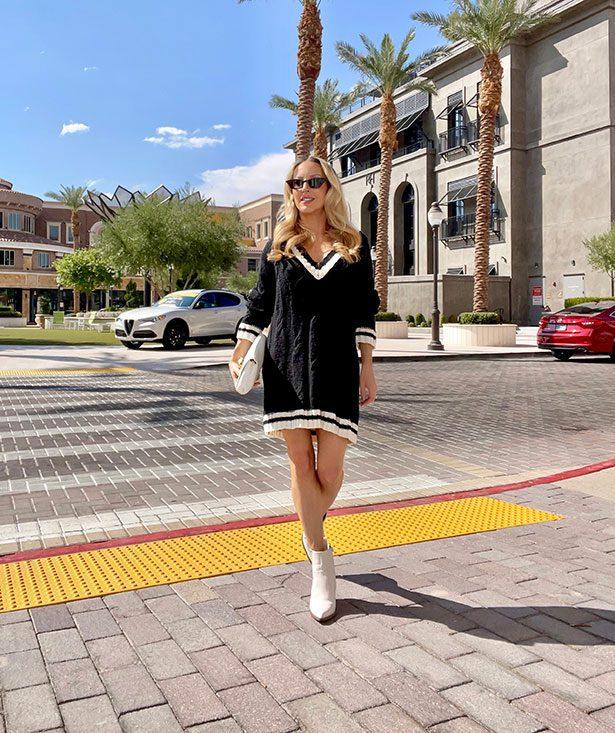 revolve black long sleeve cute sweater dress eve dawes street