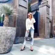 blazer jeans outfit womens fashion blogger Eve Dawes
