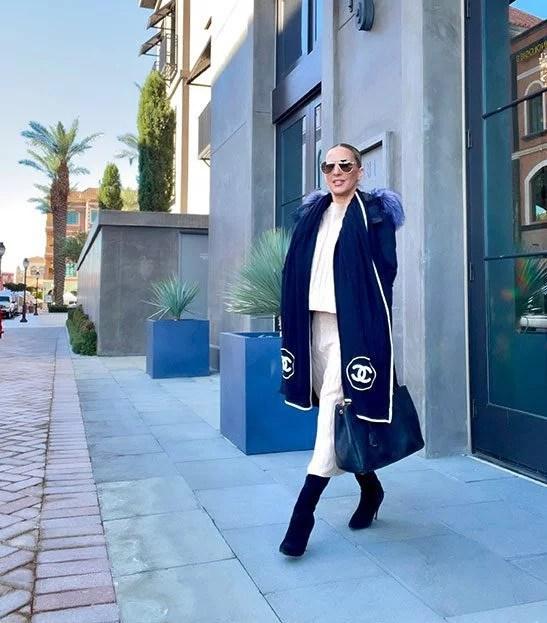 womens matching set skirt top fashion blogger street style Fall Winter 2021