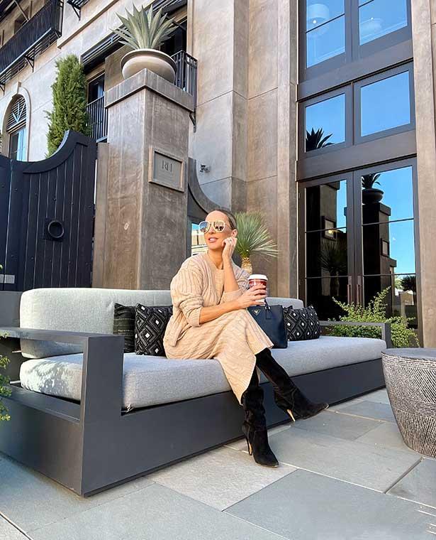 matching set knit skirt top fashion blogger Eve Dawes