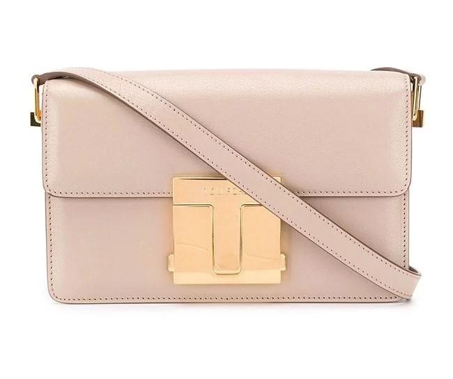 Tom Ford T clasp shoulder bag light pink