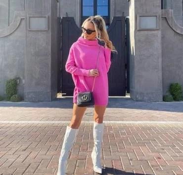 white boots fashion blogger Glamour Gains street