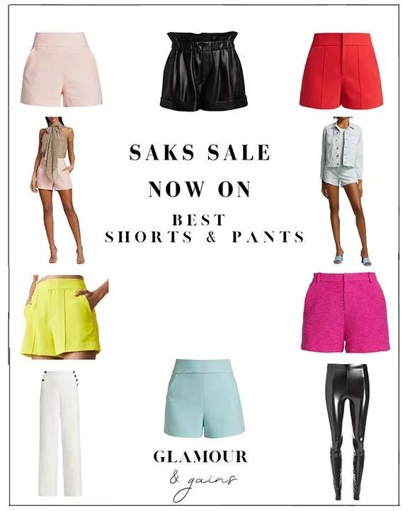 saks sale womens shorts