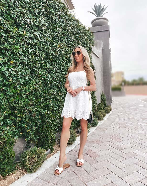 Sarah Flint sandals Mirjana flats white fashion blogger Glamour Gains