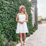 Sarah Flint flat sandals Mirjana white fashion blogger Eve Dawes