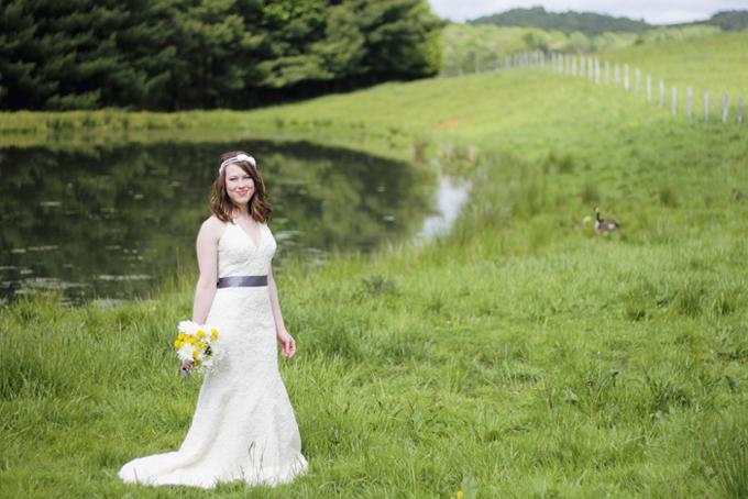 southern farm bridal portraits
