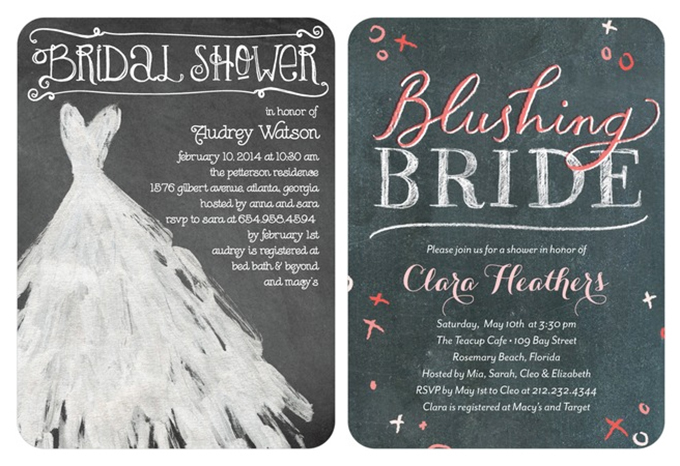 bridal shower invitations | Wedding Paper Divas