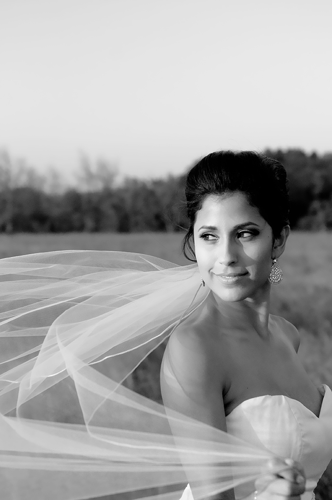 romantic field bridal session | Kelly Cameron Photography
