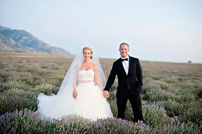 sunset lavender bridal session   Brooke Bakken Photography