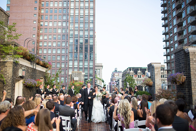 NYC rooftop wedding | Thompson Photography