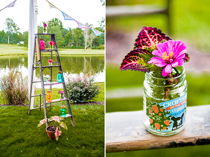 colorful DIY wedding | Meet the Burks