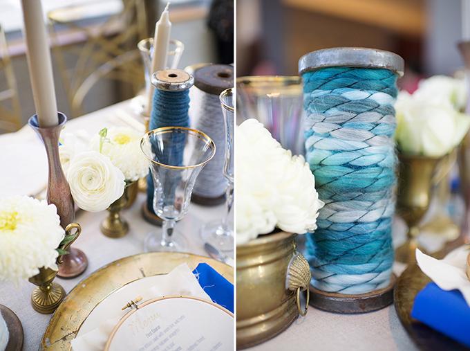 handmade blue and gold wedding inspiration | Jacki Miller