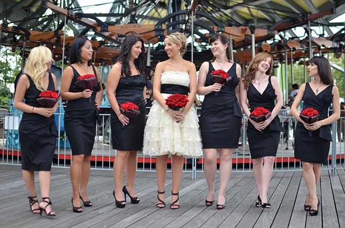red and black NYC wedding | Jessica Schmitt Photography