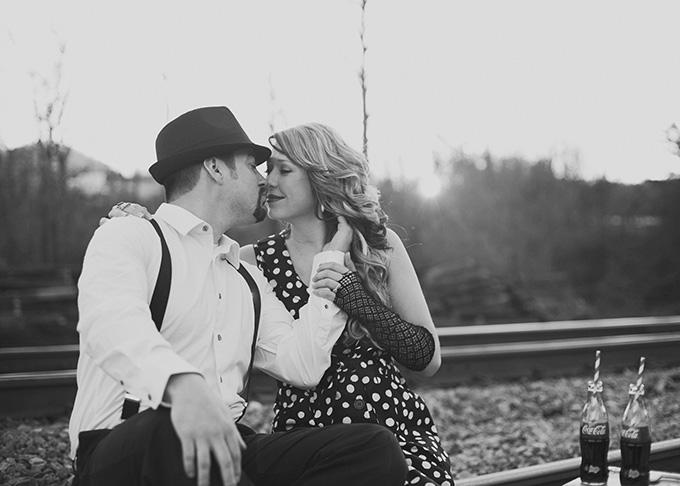 retro engagement | Suzanne Garland Photography