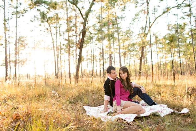 woodsy Florida engagement session | Amalie Orrange Photography