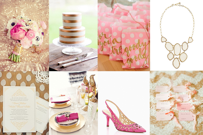 hot pink and gold wedding inspiration