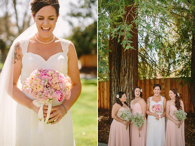 pink burlap and lace wedding   Danielle Capito Photography