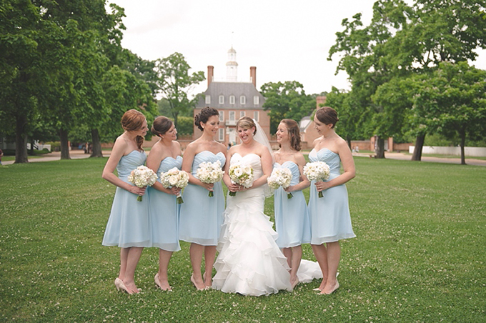 light blue bridesmaids | Bit of Ivory Photography