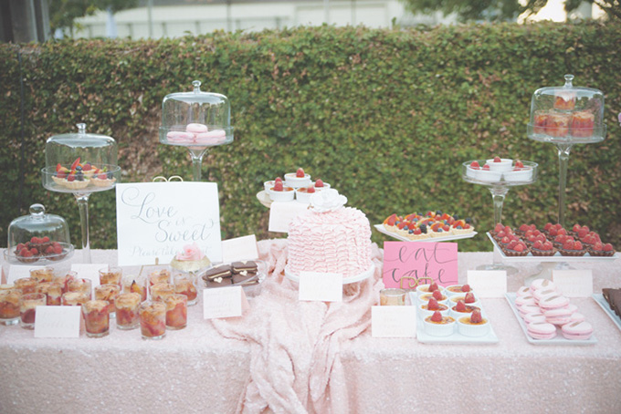 pink and gold dessert table   Emily Heizer Photography