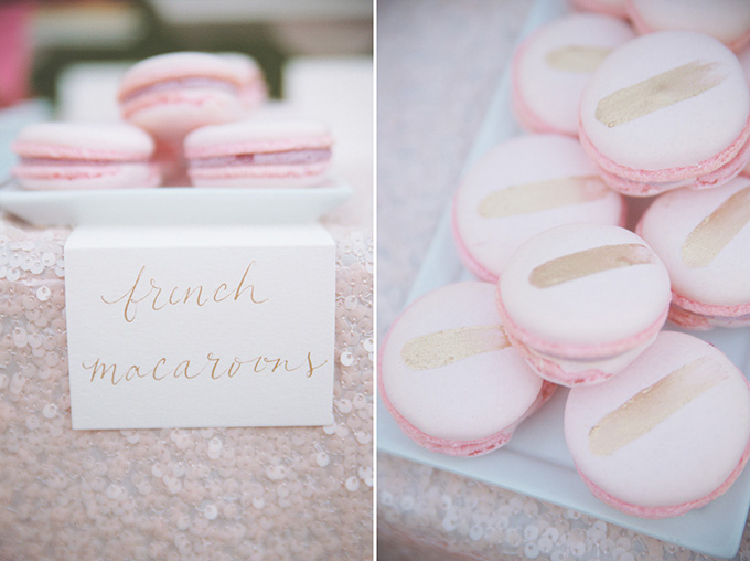 pink and gold macarons   Emily Heizer Photography