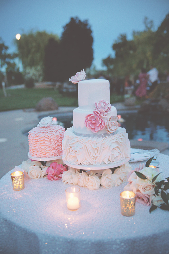 glam pink cake   Emily Heizer Photography