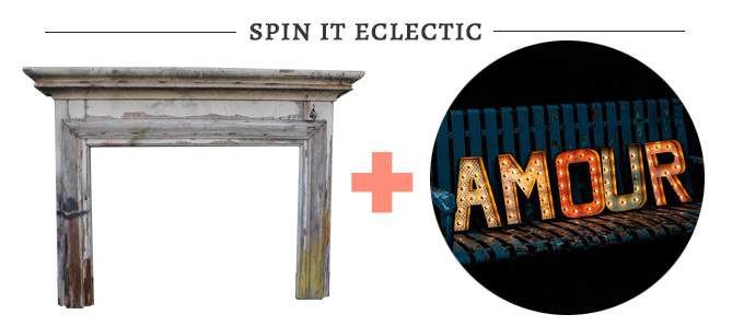 eclectic fireplace altar | Glamour & Grace