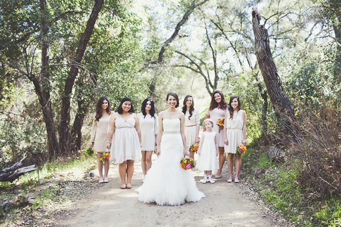 white and cream bridesmaids | Sarah Kathleen