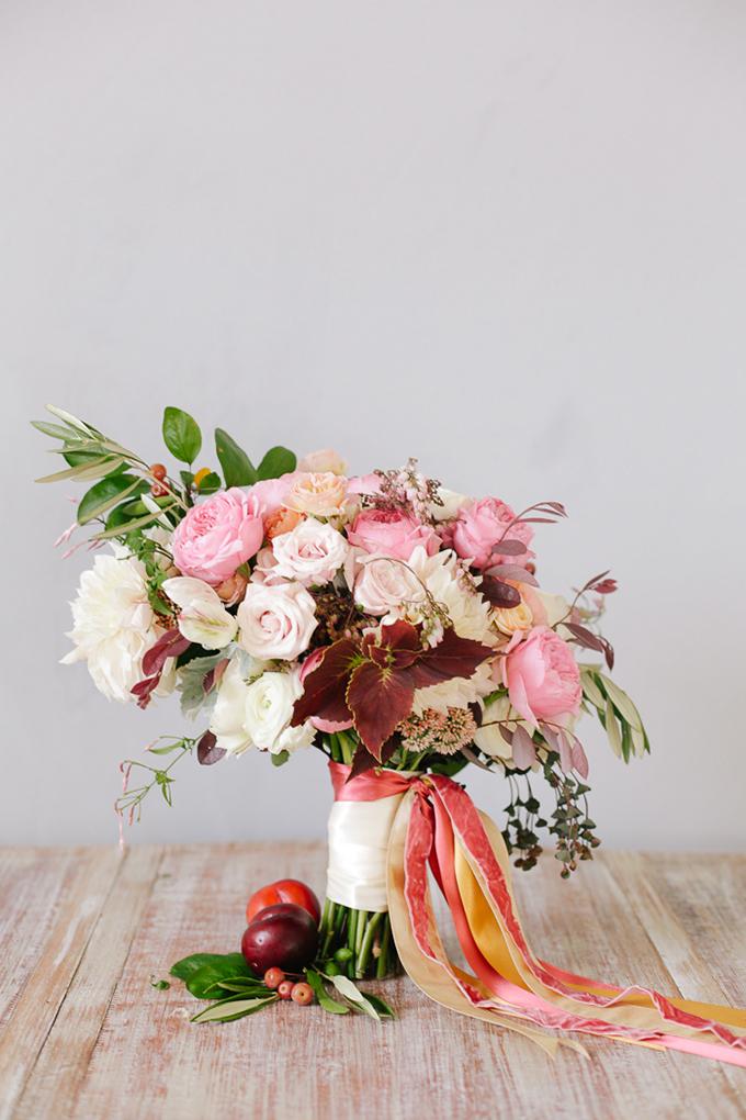 peach and plum bouquet | Annabella Charles