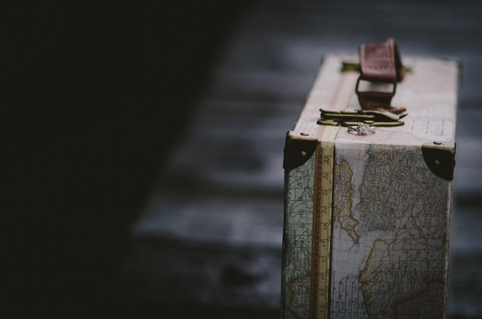 vintage train engagement | Alabaster Jar Photography